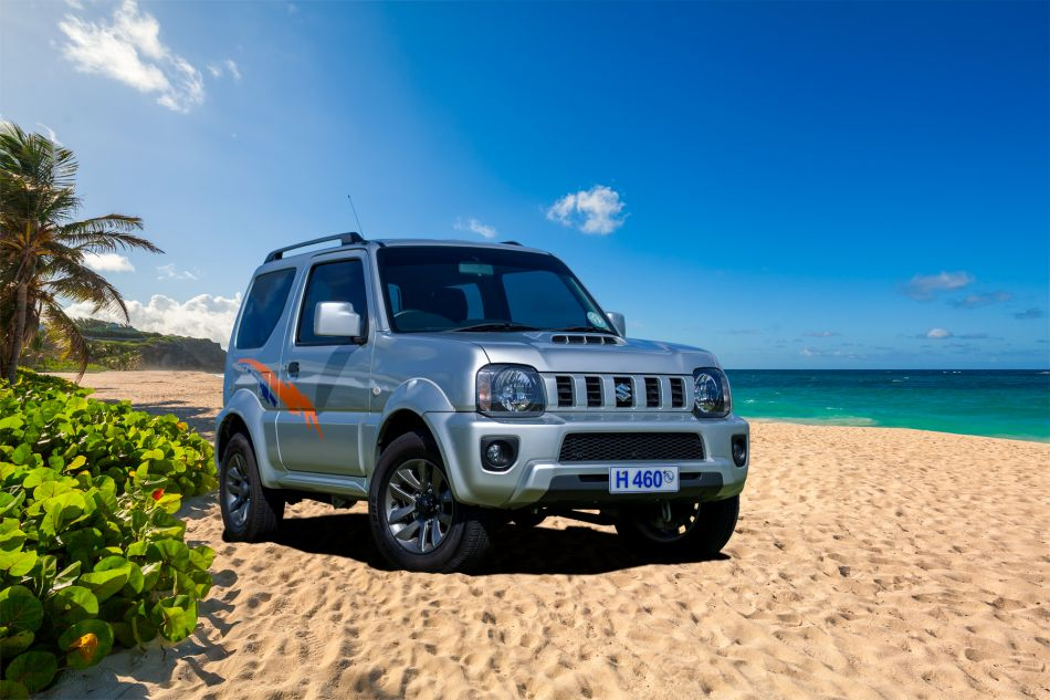 Hire a Suzuki Jimny Jeep Compact SUV Hard Top (CFAR) in Barbados from Stoutes Car Rental